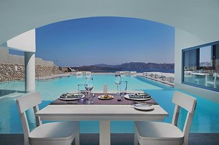 Hotel Acroterra Rosa Frühstücksraum