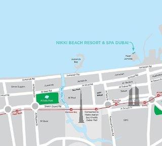 Hotel Nikki Beach Resort & Spa Dubai Landkarte